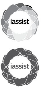 IASSIST's grayscale and singe colour logos.