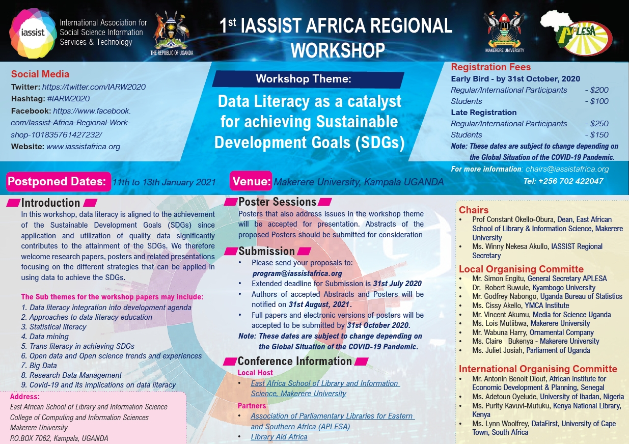 IASSIST Africa Regional Workshop 2020 Call for presentations